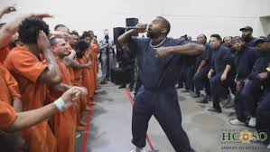 Kanye West performed a surprise concert for inmates at Houston jail