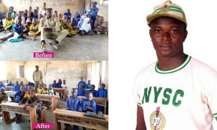 Corp member uses his allowance to execute five community projects in Kwara within five months (Photos)