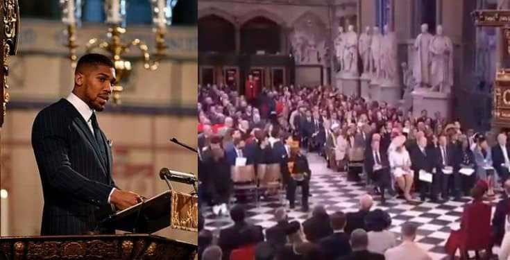 'My heritage is Nigerian, I'm proudly Nigerian' – Anthony Joshua says as he addresses the Royal Family at Commonwealth Day service
