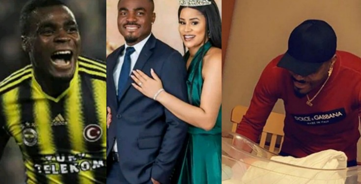 Super Eagles Star Player, Emmanuel Emenike Welcomes Second Child With Wife (Photo)