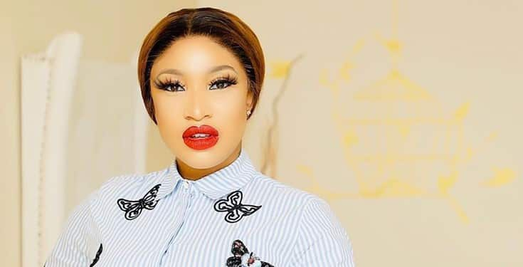 Tonto Dikeh responds as followers ask why she didn't show her son's nanny's face while wishing her a happy birthday
