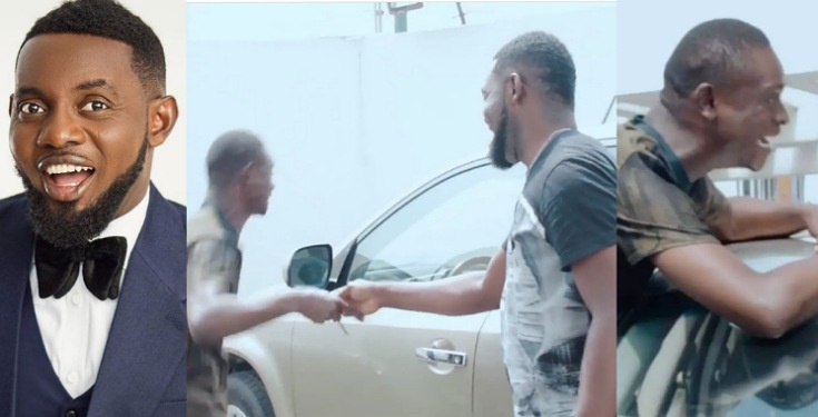 Cerebral Palsy warrior, Anthony Kupe goes 'gaga' as Comedian AY gifts him a car