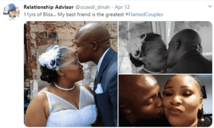 """I found my love with so many wrongs, but something said he is the one""""– Woman says as she celebrates husband"""