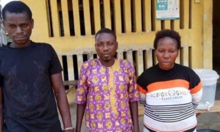 Couple arrested for using their son for ritual and burying him in a standing position