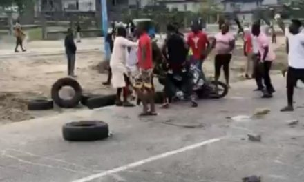Protesters mob soldiers, attempt to set them ablaze for killing young man in Warri