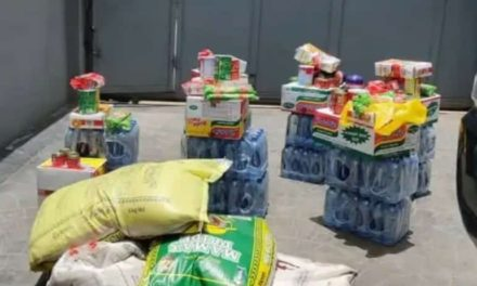 Nigerian Landlord surprises tenants with free food Items