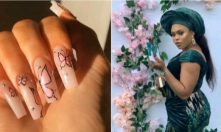 Nigerians react after lady removes ₦18,500 nails 1 week after fixing them