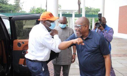 Embattled Edo state APC Governor, Godwin Obaseki, visits PDP Governor, Nyesom Wike in Port Harcourt