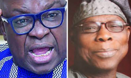 Ex-governor Ayo Fayose attacks Olusegun Obasanjo over his comment on late Senator Buruji Kashamu