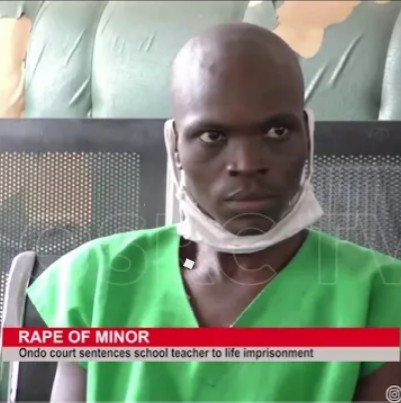 A teacher has been sentenced to life imprisonment for raping his pastor's 10-year-old daughter