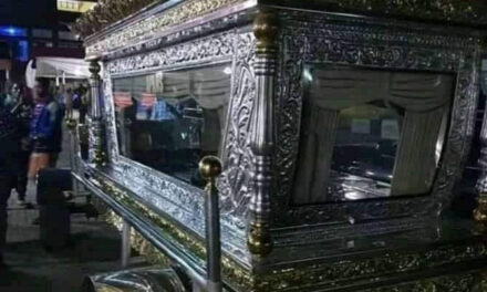 Photos from the elaborate funeral of late Chief Anthony, CEO of Tonimas Oil and Gas, as it's claimed his casket cost 34 million Naira