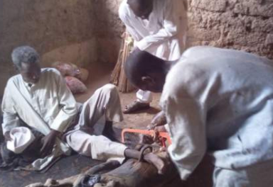 Police rescue a 55 year-old man in Kano chained for 30 years by his father