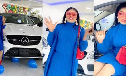 Bobrisky acquires for himself a Mercedes Benz as a birthday present