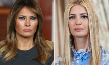 Melania Trump gives after gives weird look as Trump's daughter, Ivanka, walks past her