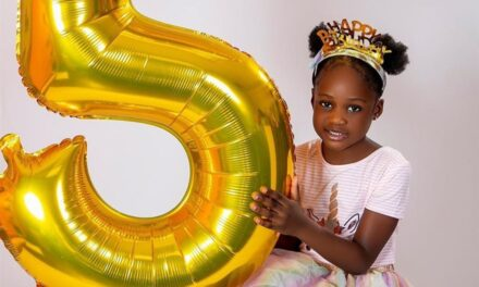 Ubi Franklin celebrates his daughter Zaneta as she clocks 5