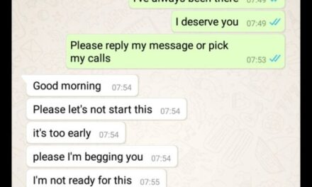 WhatsApp conversation of 31-year-old Nigerian woman begging her 25-year-old boyfriend because she needs a husband has people talking