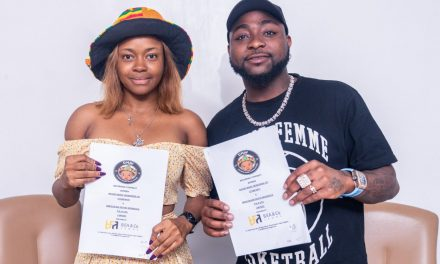 "Nigerians react as Davido's newest artist, Liya, calls him ""bro"""