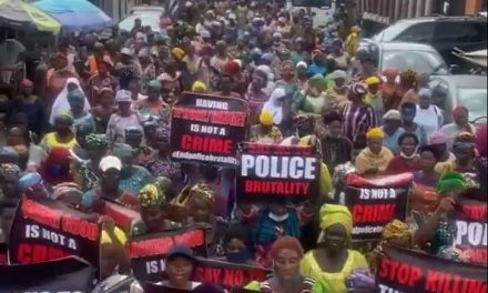 Mothers hit the streets of Lagos to join protest