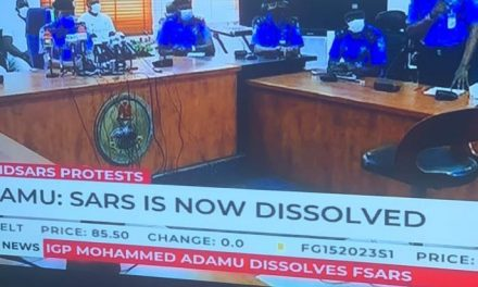 Breaking: IG of Police has announced the dissolution of SARS after days of worldwide protest