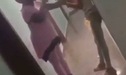 Nigerian mother beats up her daughter after catching her in hotel room with a man