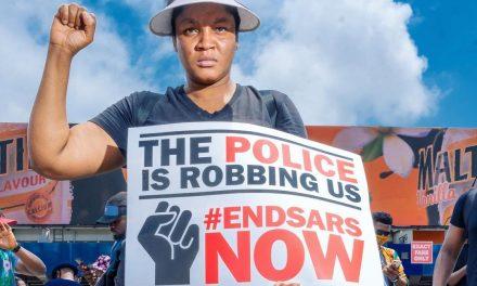 Omotola Jalade Ekeinde And Her Family Join #EndSARS Protest