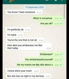 Your mom should never touch my pot of soup again – Girlfriend tells boyfriend
