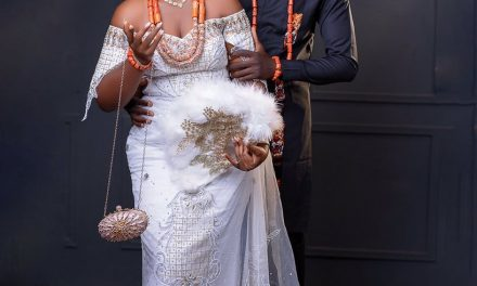 Nigerian baker gets married to architect who ordered construction site cake from her