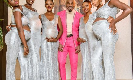 Pretty Mike attends Williams Uchemba's wedding with an entourage of heavily pregnant women