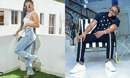 Toke Makinwa and singer KCee talk about Bone straight hair