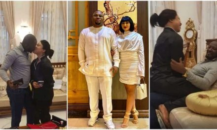 As Tonto Dikeh's new boyfriend makes the rounds on the internet, Olakunle Churchill celebrates Rosy Meurer in disguise.