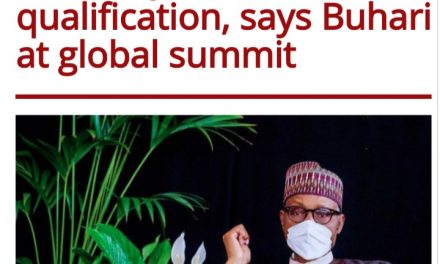 """""""You can't succeed outside your educational qualification –Buhari"""