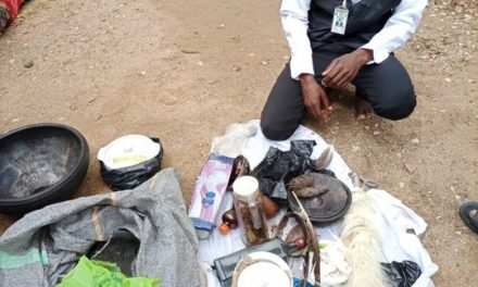 Fake lawyer arrested in Osun, charms recovered from his house.