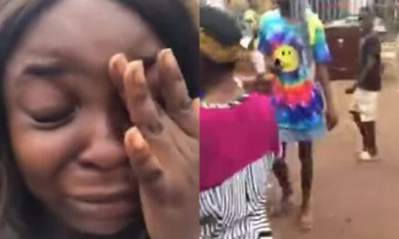 Crying young Lady accuses her Uncle of throwing her family out of their home (video)